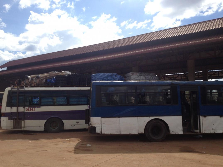 Die Busstation in Pakse