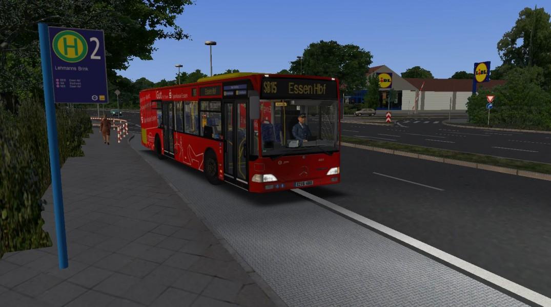 4001 auf dem SB15 am Lehmanns Brink auf dem Weg in die Stadt