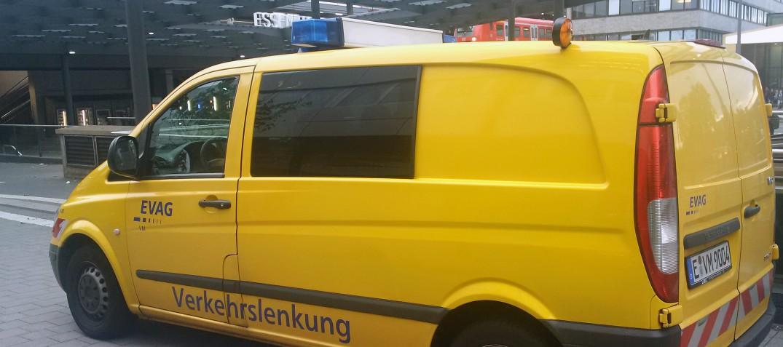 Einer der Funkwagen, die durch das Stadtgebiet fahren.