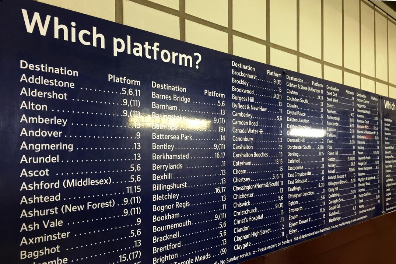 London Underground - Anzeigetafel