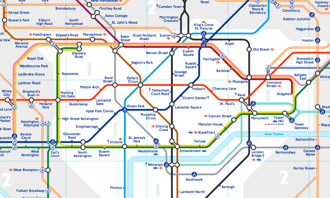 U-Bahn - Liniennetzplan-London