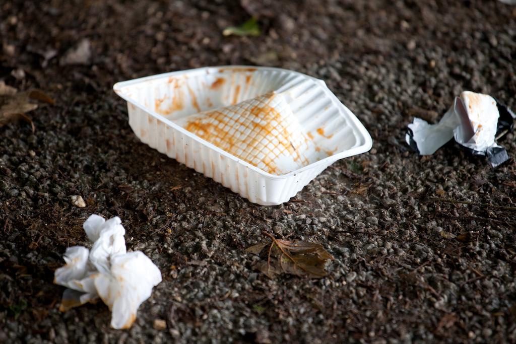 Das Reinigungsteam der Entsorgungsbetriebe Essen sorgt an der Prommenade des Baldeneysees f¸r Sauberkeit.