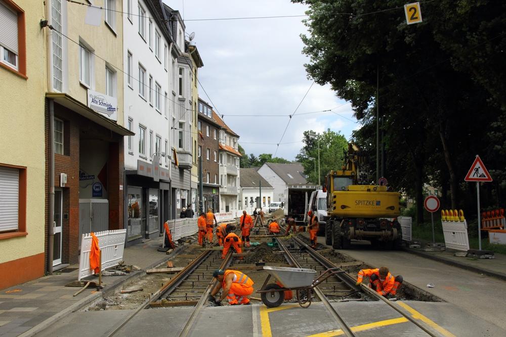 Umbau Haltestelle Armstraße