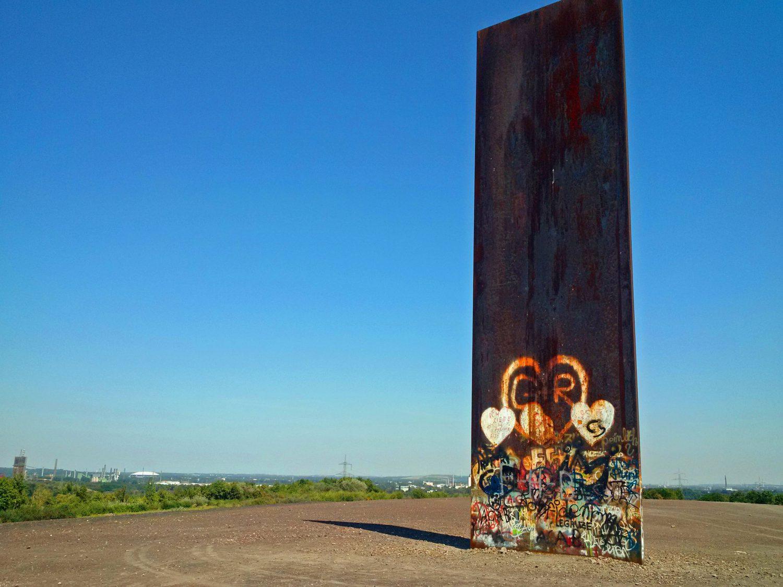 Die Bramme - aus Stahl erschaffen vom amerikanischen Bildhauer Richard Serra